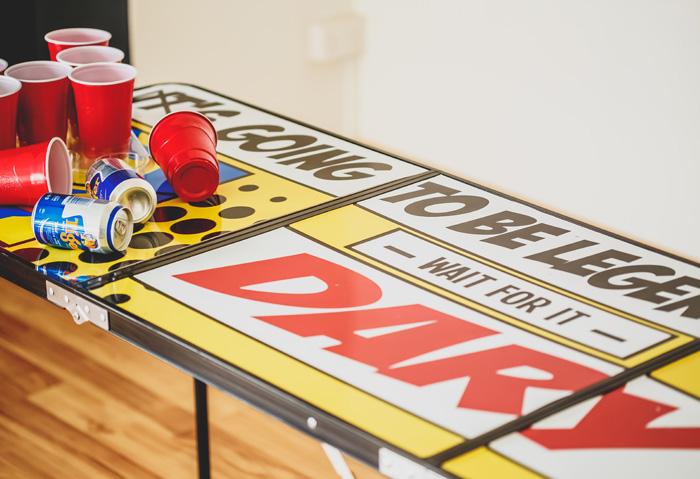 waterproof Barney beer pong table