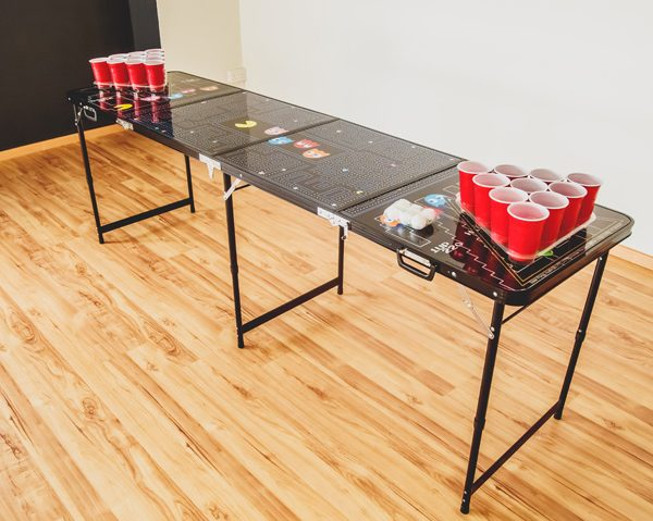 Pacman beer pong table accessories the men 39 s cave - Professional beer pong table ...