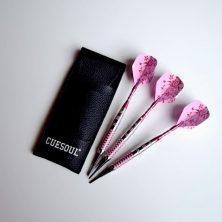 Cuesoul Pink Steel Tip Darts