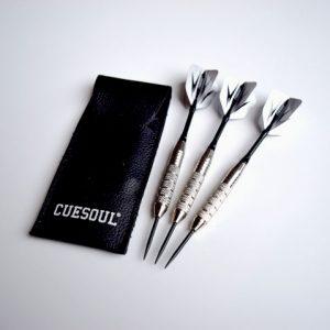 Cuesoul Black & White Steel Tip Darts