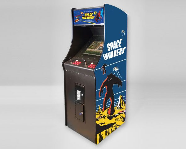 Space Invaders Upright Arcade Machine Side View