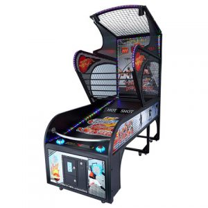 Arcade Basketball Machine Side View