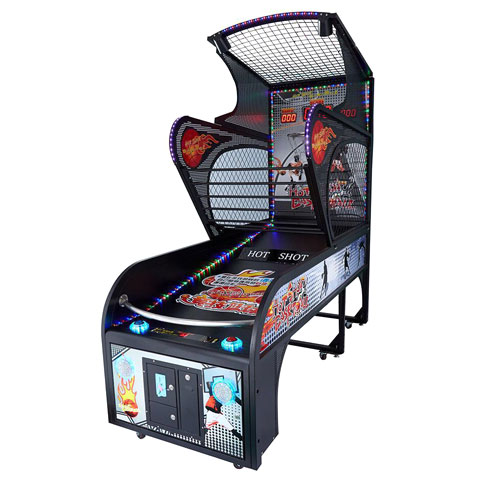 Arcade Basketball Machine Side View