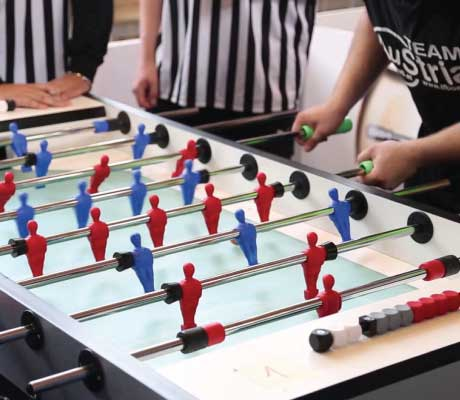 Garlando Foosball In Tournament Play