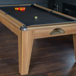 Pool Table in Walnut & Black Cloth