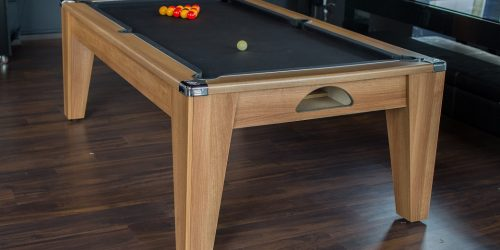 Avant Grade - Dining Pool Table in Walnut & Black Cloth