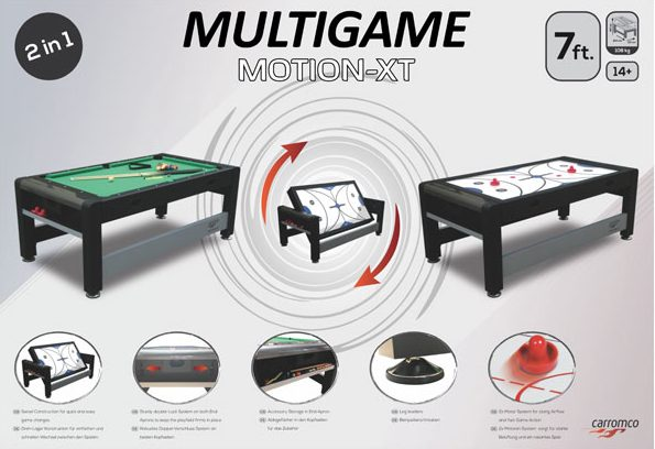 MOTION XT 7FT MULTI GAME TABLE