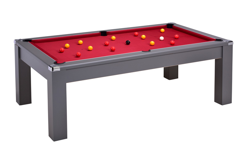 Comtempo Onyx Grey - Red Cloth with Balls